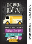 food truck festival menu food... | Shutterstock .eps vector #432661072