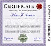 certificate template eps10 jpg... | Shutterstock .eps vector #432661906