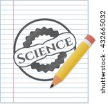 science drawn in pencil | Shutterstock .eps vector #432665032