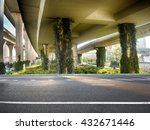 concrete road curve of viaduct... | Shutterstock . vector #432671446