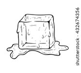 21261 ice cube clip art black and white | Public domain vectors