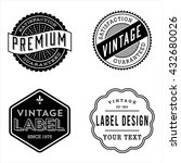 vintage label designs   set of... | Shutterstock .eps vector #432680026