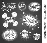 comic book sound effects  ... | Shutterstock .eps vector #432680032