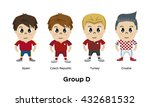 soccer   football team players. ... | Shutterstock .eps vector #432681532