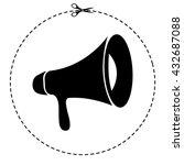 loudspeaker vector icon | Shutterstock .eps vector #432687088