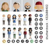people lifestyle contemporary... | Shutterstock .eps vector #432688402