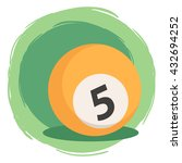 billiard ball number 5 orange.... | Shutterstock .eps vector #432694252