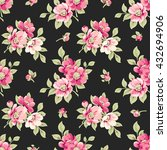 seamless pattern with pink... | Shutterstock .eps vector #432694906