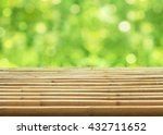empty bamboo table and blurred... | Shutterstock . vector #432711652
