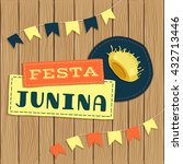 festa junia  brazilian june... | Shutterstock .eps vector #432713446