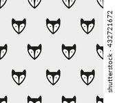 seamless pattern fox art ... | Shutterstock .eps vector #432721672