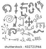 vector hand drawn arrows set... | Shutterstock .eps vector #432721966
