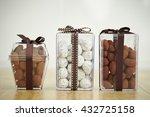 Various Chocolate In Plastic Box