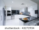 modern kitchen in luxury... | Shutterstock . vector #43272934