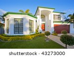 luxury mansion house front in... | Shutterstock . vector #43273000