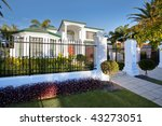 luxury mansion house front in... | Shutterstock . vector #43273051