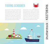 sea illustration with island  a ... | Shutterstock .eps vector #432738346
