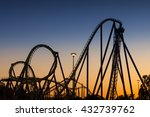 Roller Coaster Silhouette At...