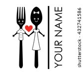 cute fork and spoon. vector... | Shutterstock .eps vector #432741586