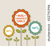 vector flower tag. floral... | Shutterstock .eps vector #432741946