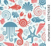 vector seamless pattern with... | Shutterstock .eps vector #432743182