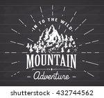 mountains handdrawn sketch... | Shutterstock .eps vector #432744562