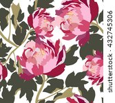 seamless pattern with roses... | Shutterstock .eps vector #432745306