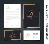 Stock vector luxury logo letter head book cover business card set for restaurant hotel cafe or other 432745795