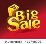 golden sale concept vector... | Shutterstock .eps vector #432748708
