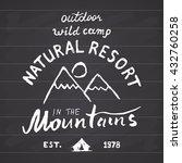 mountains handdrawn sketch... | Shutterstock .eps vector #432760258