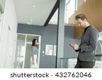 businessman with a phone in the ... | Shutterstock . vector #432762046