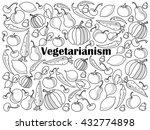 vegetarianism design colorless... | Shutterstock . vector #432774898
