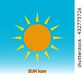 sun icon | Shutterstock .eps vector #432775726