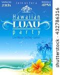 day beach poster for hawaiian... | Shutterstock .eps vector #432786316
