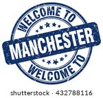 welcome to manchester. stamp | Shutterstock .eps vector #432788116