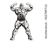 bodybuilder showing his biceps  ... | Shutterstock .eps vector #432789712