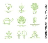 vector set of gardening icons... | Shutterstock .eps vector #432792382
