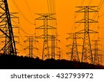 electric  high voltage   on... | Shutterstock . vector #432793972