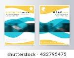 annual report brochure. flyer... | Shutterstock .eps vector #432795475