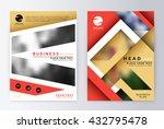 annual report brochure. flyer... | Shutterstock .eps vector #432795478