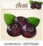 acai berries illustration.... | Shutterstock .eps vector #432796366