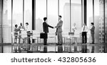business people board room... | Shutterstock . vector #432805636