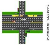 road infographics. large... | Shutterstock .eps vector #432810442