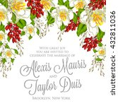invitation or wedding card with ... | Shutterstock .eps vector #432811036