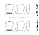women's clothing set of basic... | Shutterstock .eps vector #432811642