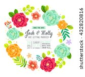 save the date invitation card... | Shutterstock .eps vector #432820816