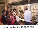 students looking at artifacts... | Shutterstock . vector #432822832