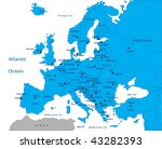 political map of europe | Shutterstock .eps vector #43282393