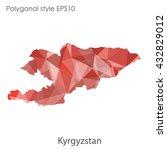 kyrgyzstan map in geometric... | Shutterstock .eps vector #432829012