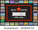 collection of retro colored... | Shutterstock .eps vector #432830725
